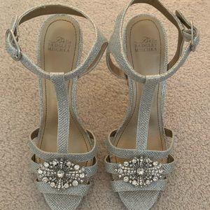 Belle Badgley Mischka Silver Heels
